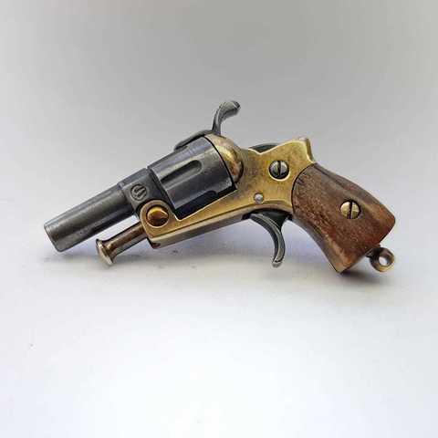 Miniature 2mm pinfire revolver
