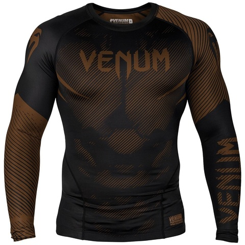 Рашгард Venum NoGi 2.0 Rashguard Long Sleeves Black/Brown