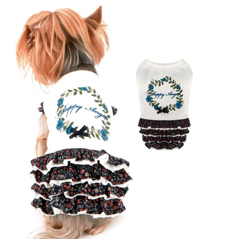 613 PA Платье для собаки Цветы