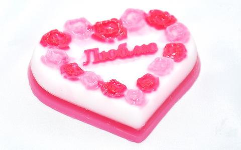 Мыльное ассорти/сердце: ЛЮБЛЮ, 90g TM ChocoLatte