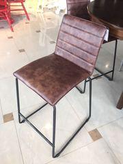 """Барный стул """"Вестон (Veston)"""" обитый экокожей —  Красно-оранжевый (MK-4325-FL)"""