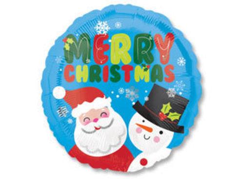 Фольгированный шар Снеговик и Санта