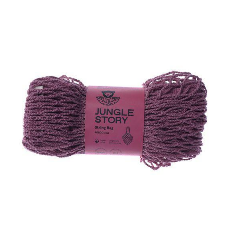 Авоська с удлиненной ручкой Jungle Story бледно-розовая