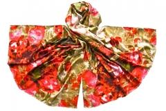 Палантин красно-зеленый  0902