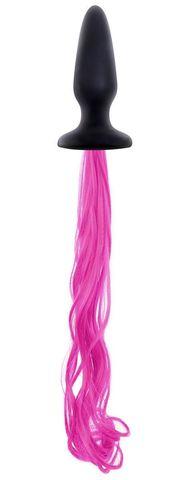 Анальная втулка с розовым хвостом Unicorne Tails