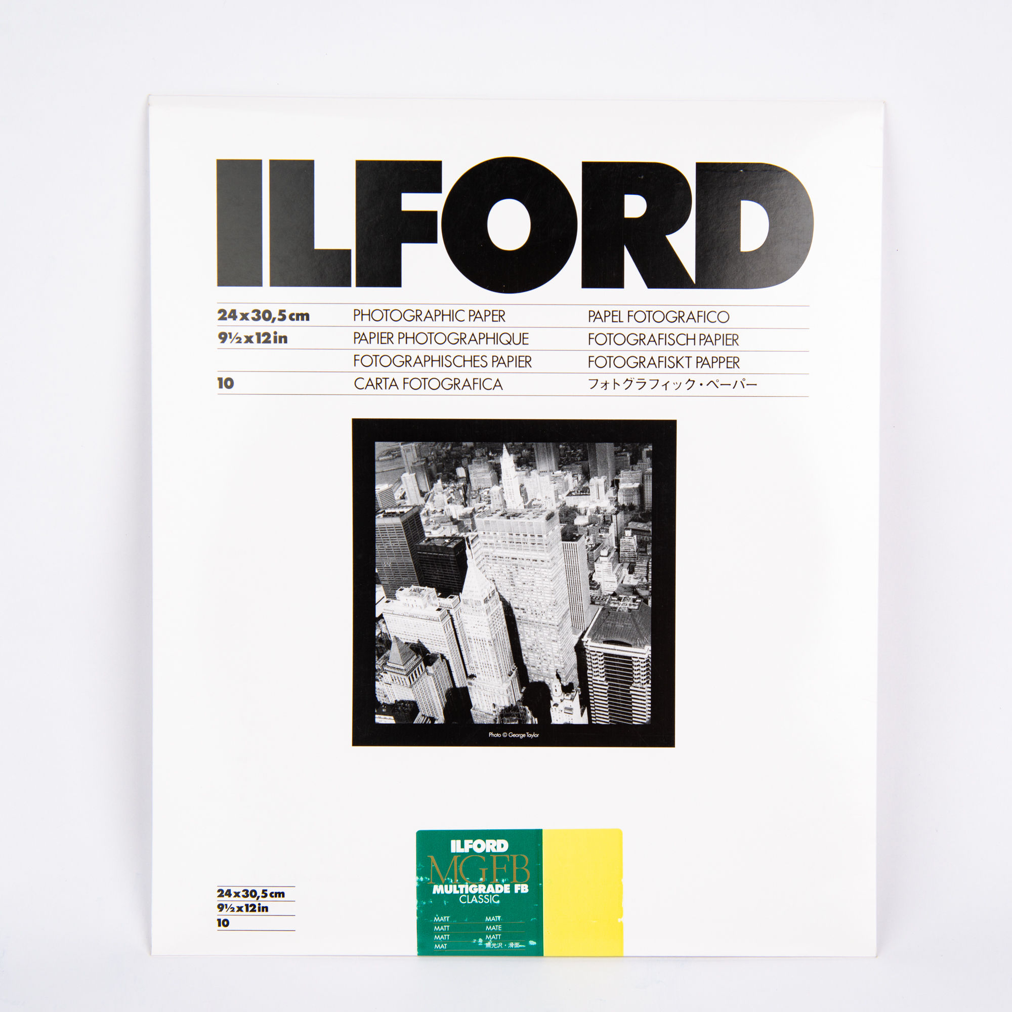 Фотобумага Ilford MG баритовая, 24 x 30,5 см, глянцевая, 10 листов