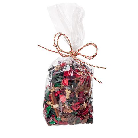 Набор шишек и сухоцветов, 148 гр, натуральный/ красный/зеленый