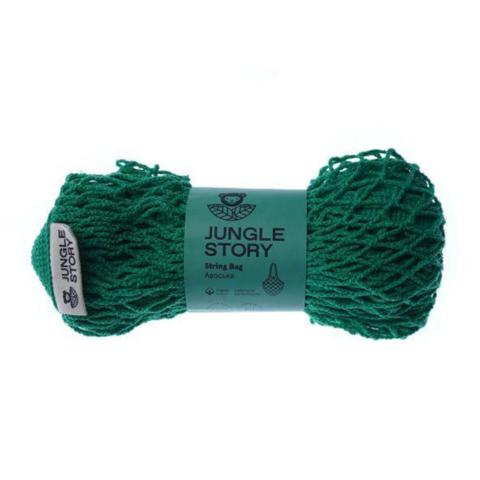 Авоська с удлиненной ручкой Jungle Story насыщенно-зеленая