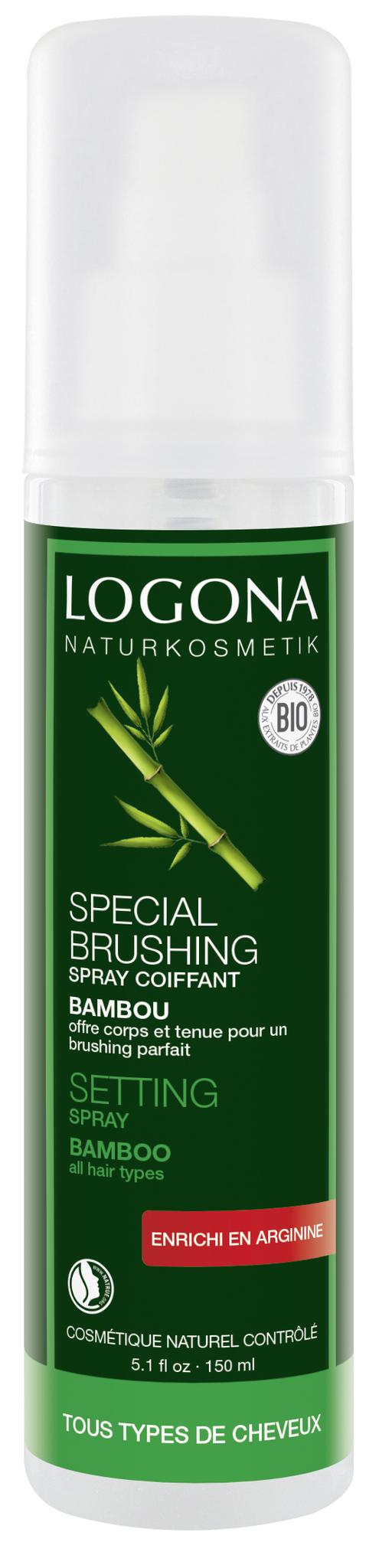 LOGONA Натуральный Cпрей для укладки волос с Экстрактом Бамбука