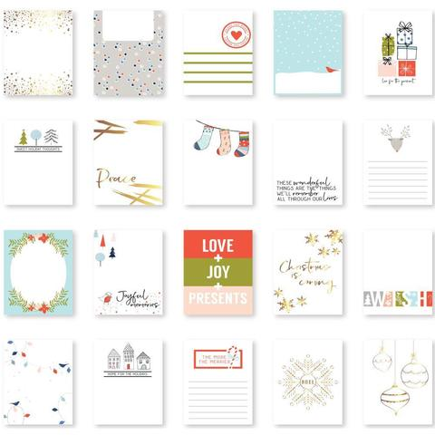 Журнальные карточки December Days Foiled Card Set -Gold-7,5х10см/20шт