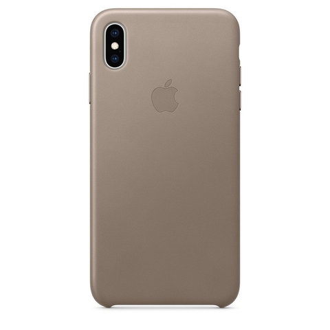Чехол iPhone XS Max Leather Case /taupe/