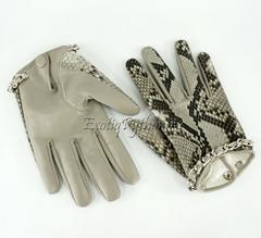 Перчатки из кожи питона AC-25