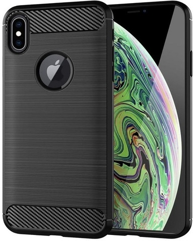 Чехол iPhone XS Max цвет Black (черный), серия Carbon, Caseport