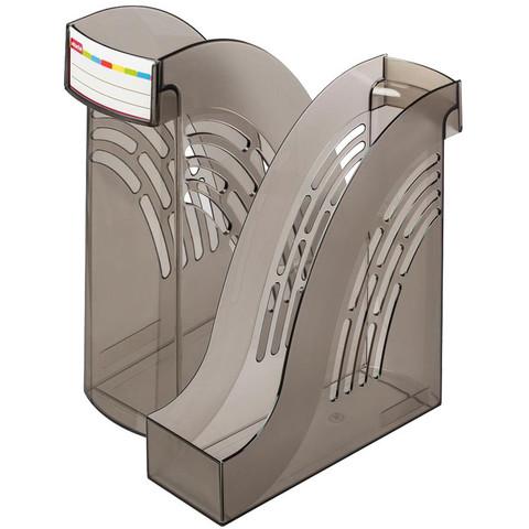 Вертикальный накопитель Attache пластиковый серый ширина 95 мм (2 штуки в упаковке)