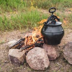 Афганский казан-скороварка 8 (7,5) л черный