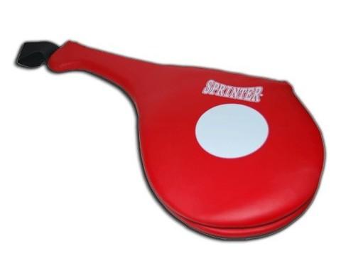 Лапа ракетка (хлопушка) SPRINTER двойная из плотной синтетической кожи. Предназначена для отработка точности и скорости ударов руками и ногами. :(379-382):