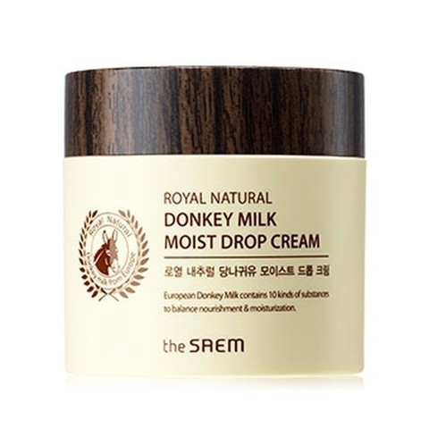 THE SAEM ROYAL Крем с экстрактом ослиного молока Royal Natural Donkey Milk Moist Drop Cream 80гр