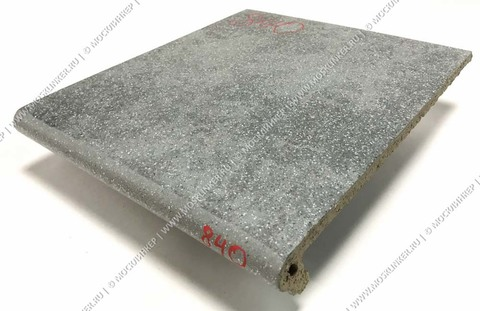 Stroeher - Keraplatte Roccia 840 grigio 340x294x12 артикул 9340 - Клинкерная ступень - флорентинер