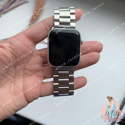 Ремешок Apple watch 42/44mm Metall old 3-bead /silver/
