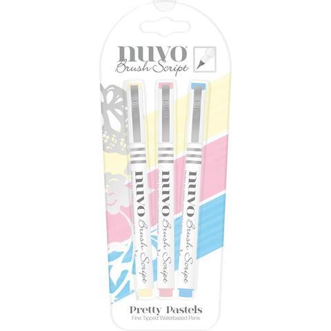 Набор цветных кистей  для каллиграфии- Nuvo Brush Script Pens-3 шт