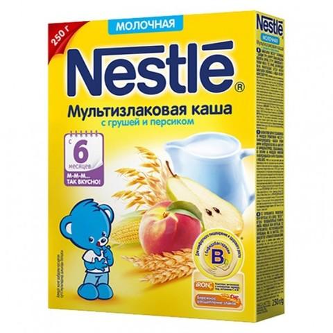 Nestlé® Молочная мультизлаковая каша с грушей и персиком