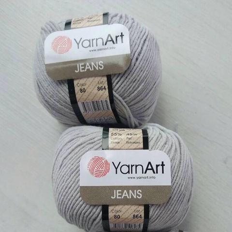 Пряжа YarnArt JEANS - (80-серый)