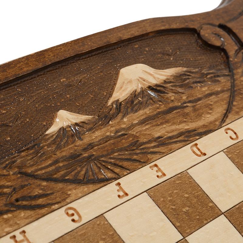 Шахматы + Нарды резные c Араратом 50, Haleyan
