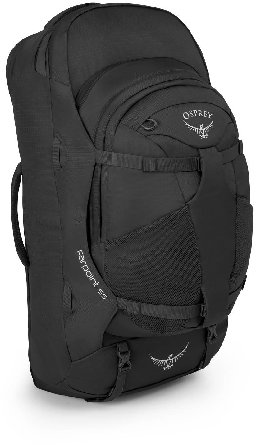 Туристические рюкзаки Сумка-рюкзак для путешествий Osprey Farpoint 55 Farpoint_55_Side_Volcanic_Grey_web.jpg