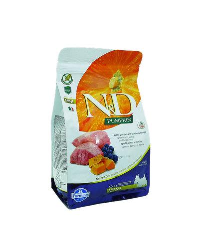 Farmina N&D Dog сухой корм для собак мелких пород (ягненок с черникой и тыквой) 800 г