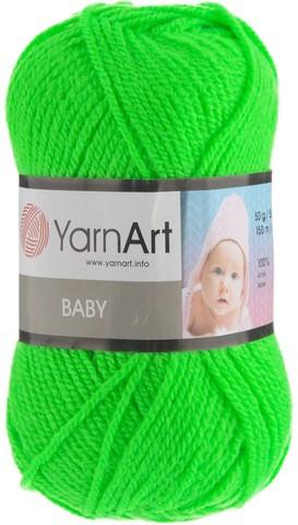 Пряжа YARNART BABY № 8233 зеленый