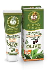 Оливковый крем для лица с УФ фильтром SPF 50 ATHENA'S TREASURES 50 мл