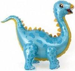 Шар (39''/99 см) Ходячая Фигура, Динозавр Стегозавр, Голубой, в упаковке 1 шт.