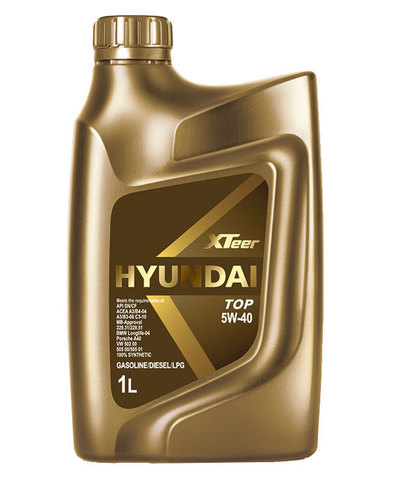 HYUNDAI XTEER TOP 5W40 SN/CF  Масло моторное синт. (пластик/Корея)
