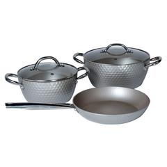 Набор посуды с антипригарным покрытием GALAXY GL9510 (серебристый)