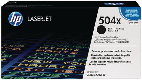 Оригинальный картридж HP CE250X (№504X), чёрный