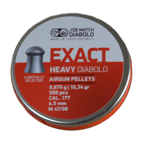Пульки JSB Exact Heavy 4.52 мм (0.67 г, 500 шт.)