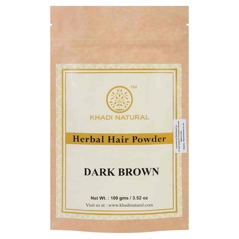 Хна для волос темно-коричневая Khadi Natural, 100 гр