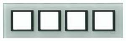 Рамка на 4 поста. Цвет Матовое стекло. Schneider electric Unica Class. MGU68.008.7C3