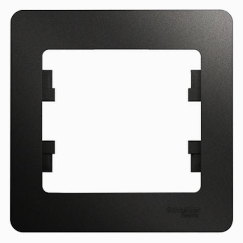 Рамка на 1 пост. Цвет Антрацит. Schneider Electric Glossa. GSL000701