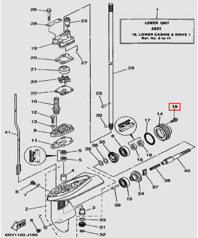 Болт для лодочного мотора F5 Sea-PRO(18-18)