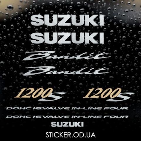 Набор виниловых наклеек на мотоцикл SUZUKI BANDIT 1200S, 2002