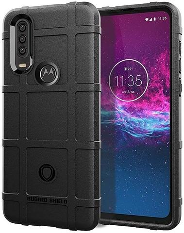 Чехол Motorola Moto One Action (P40 Power) цвет Black (черный), серия Armor, Caseport