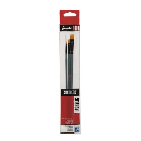 Набор кистей Lefranc&Bourgeois Louvre 3 шт [№2, 6, 10], синтетика, длинная ручка