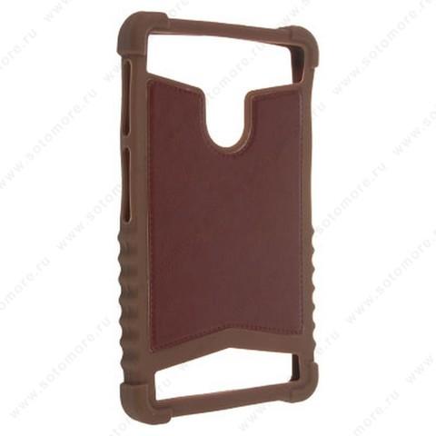 Накладка резиновая универсальная 7 дюймов коричневый
