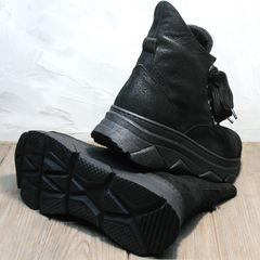 Сникерсы ботинки кожаные женские Rifellini Rovigo 525 Black
