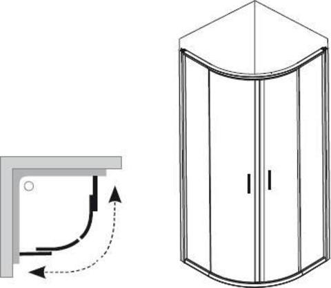 Душевой уголок Ravak Blix BLCP4-90x90см. сатин + транспарент 3B270U00Z1 схема