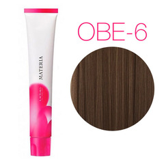 Lebel Materia 3D OBe-6 (темный блондин оранжево-бежевый) - Перманентная низкоаммичная краска для волос