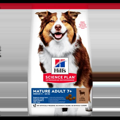 Сухой корм Корм для собак от 7 лет Hill`s Science Plan Mature Adult 7+ Active Longevity Medium, с ягненком и рисом sp-canine-science-plan-mature-adult-7-plus-active-longevity-medium-lamb-and-rice-dry-productShot.png