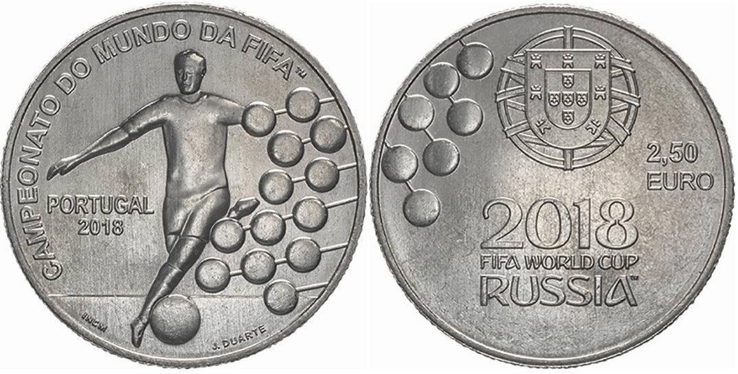 2,5 евро. Чемпионат мира по футболу в России 2018. Португалия