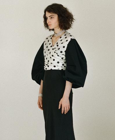 Блуза с пышным рукавом